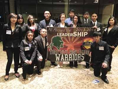Tuba City High School students attended the Future Business Leaders of America State Leader Conference in Tucson, Ariz. April 1-3. Back row from left: Amaya Numkena, Monique Chief, Treyann Sloan, Reed Dallas, Isabella Robbins, Willis Bilagody, Odessa Wauneka, Christopher Stanley, Justice Tso, Evelyn Pooyouma. Front row from left: Shinique Nez, Kolton Chato, Manuel Ardita. Submitted photo