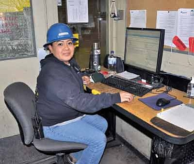 Christine Bigman at Navajo Generating Station. Photo/George Hardeen