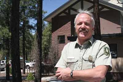 Coconino National Forest fire information officer Dick Fleishman said the definition of an average fire season in Arizona has changed since he started with the U.S. Forest Service 33 years ago. Drought and forest density have contributed to that change. Photo/Julia Shumway