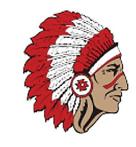 The logo of the St. Johns High School Redskins, one of two high schools in the state, with Red Mesa High School, with that nickname for their athletic teams. While some are offended by the name, officials at both schools defend it. Photo/St. Johns High School