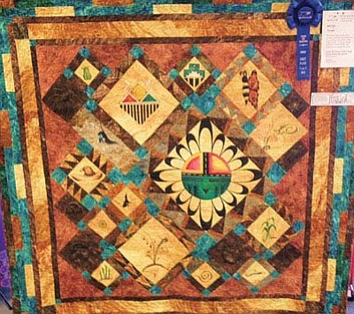 The Hopitutuqaiki Art School Opportunity Quilt took first place at Arizona Quilters Guild Annual Quilt Show in Tempe, Ariz. March 14. Photo/Rosanda Suetopka Thayer