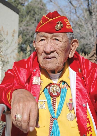 Navajo Code Talker Dan Akee. Photo/Erin Whittaker/NPS
