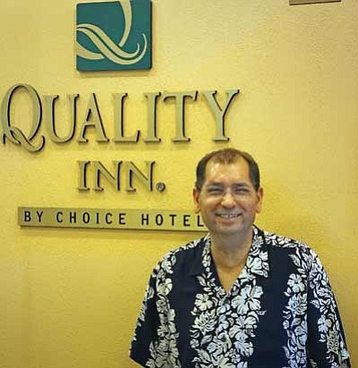 Devin Singh at the Quality Inn in Winslow. Photo/Todd Roth