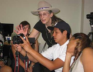 Hopi High students learn about news broadcasting at NAU camp