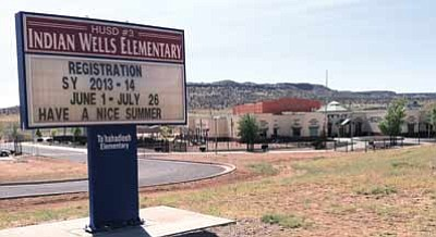 The Indain Wells preschool program continues to grow. Indian Wells Elementary School south of White Cone will enroll students for the 2013/14 school year through July 26. Photo/Clifford Fewel