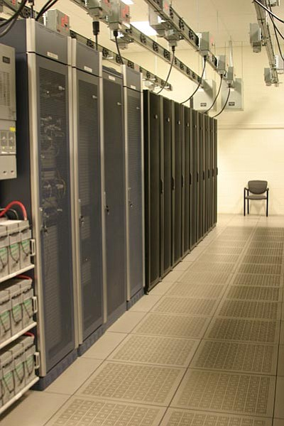 Inside the new data center. Submitted photo