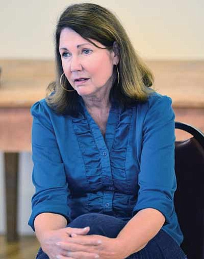U.S. Representative Ann Kirkpatrick listens to Winslow officials Aug. 19. Photo/Todd Roth