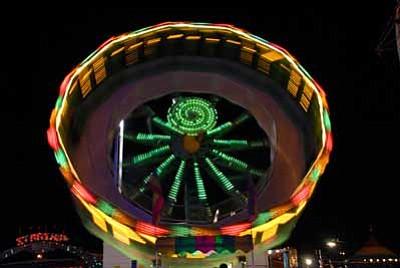 Frazier Carnival Shows opens at noon Saturday and Sunday at the Navajo Nation Fair. Photo/Geri Hongeva