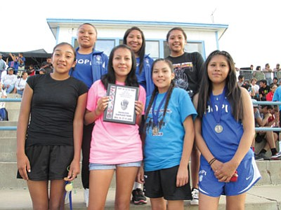 The Hopi High School girls cross country team placed second at the Hopi Invite Sept. 3. Photo/Stan Bindell