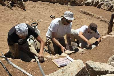 Park Service archaeologists work at the Tusayan ruins. Submitted photo<br /><br /><!-- 1upcrlf2 --><br /><br /><!-- 1upcrlf2 -->