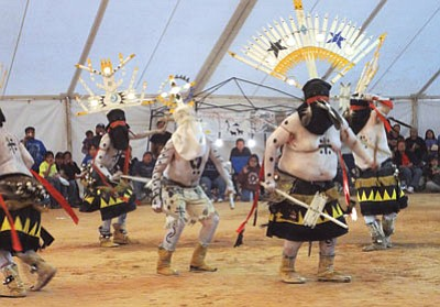 The White River Apache Crown Dancers perform during the Western Navajo Nation Fair in Tuba City. Photo/Loretta Yerian