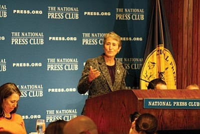 Interior Department Secretary Sally Jewell said the federal government needs to work with states to conserve water, especially in the Southwest, where the Colorado River's water level has dropped. Photo/Jack Fitzpatrick