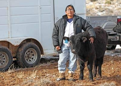 Above and below: Navajo ranchers working with the Navajo Beef Program at Padres Mesa Ranch, 14-R Ranch and Turquise Grazers supply Navajo Beef to the Navajo Nation Gaming Enterprise. Photos/Labatt Food Service