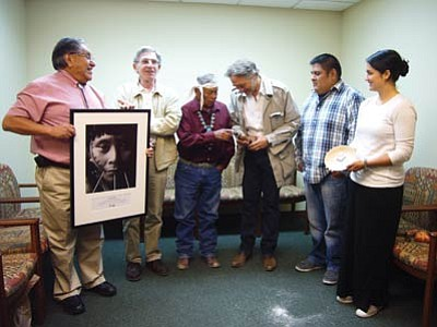 In July, Pierre Servan-Schreiber returned a sacred object to the Hopi Tribe. Members of the Hopi Tribe, Survival International and Pierre Servan Schreiber exchange gifts after the return of the sacred object.<br /><br /><!-- 1upcrlf2 --><br /><br /><!-- 1upcrlf2 -->