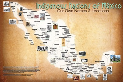 Aaron Carapella's map of Mexico documents the 'true names' of Native American tribes before the groups had contact with Europeans. Submitted photo