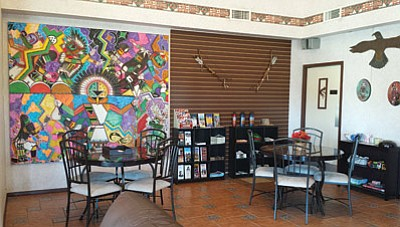 The lobby at the Days Inn Kokopelli will showcase artwork from the Explore Hopi Consignment Art Program.  Submitted photo.