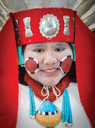 A Hopi dancer prepares to take the stage at the Museum of Northern Arizona during a past Hopi Festival of Arts and Culture. Photo/Museum of Northern Arizona