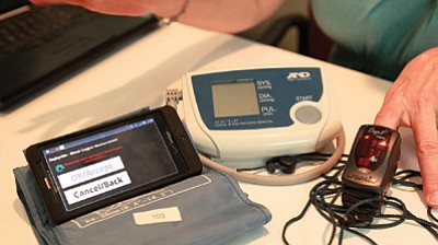 Monitoring devices used in the Care Beyond Walls and Wires program at Flagstaff Medical Center. Photo/Flagstaff Medical Center