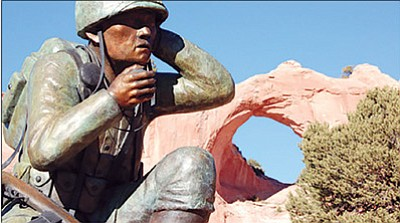 The Navajo Nation Code Talker Memorial in Window Rock. Submitted photo