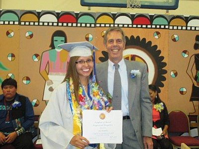Kira Beaudette graduates high school as Hopi High's valedictorian. Now, she will head to Dartmouth after earning a Gates Millennium Scholarship. Photo/Stan Bindell