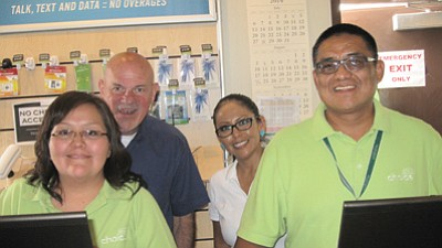 Choice/NTUA Wireless General Manager Clyde Casciato and employees at the retail outlet in Tuba City, Arizona. Submitted photo