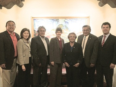 Navajo Nation President Ben Shelly met with federal officials from the U.S. Environmental Protection Agency to discuss the upcoming decision for carbon dioxide. Photo/Michele Morris