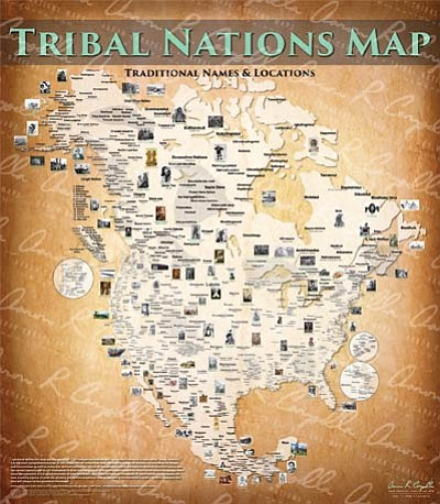 A new map by Aaron Carapella depicts the location of indigenous people across Northern America. Courtesy photo