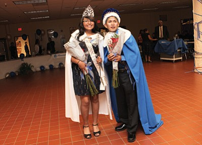 Hopi High School Homecoming Queen Ryesa Howato and King Adam Laban enjoy the festivities. Photo/Stan Bindell