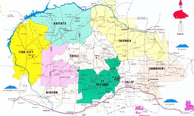 The Navajo Nation Council voted to amend the Navajo fluency rule to allow voters to decide if a candidate for public office is fluent enough. Map/NHO