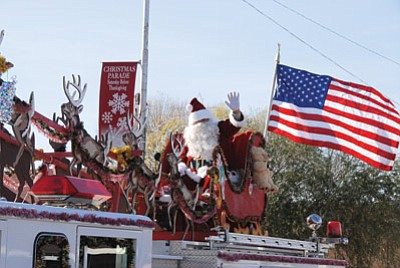 Santa Claus brings up the rear of the annual Winslow Christmas Parade last year. Submitted photo