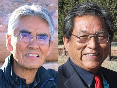 Joe Shirley Jr. and Russell Begaye are   on the ballot  as the Navajo Nation votes in the presidential election today.