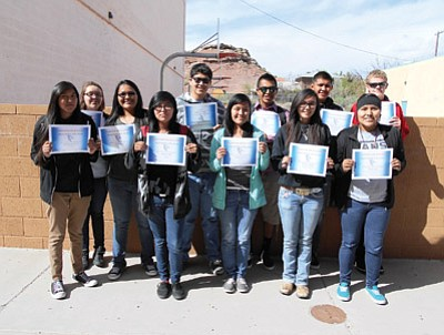 Holbrook High School March Students Of The Month Navajo Hopi