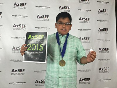 2015 Arizona state chemistry champion Geronie Pesodas, age 12, of Eagles Nest Intermediate School. Photo/Rosanda Suetopka