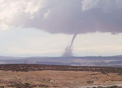 A tornado touches down northeast of Monument Valley June 5. Submitted photo