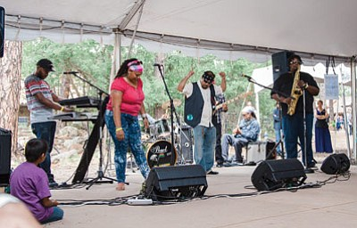 Casper and The Mighty 602 Band performs during the 82nd annual Hopi Festival of Arts and Culture July 4 at the Museum of northern Arizona.  Ryan Williams/NHO