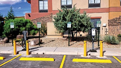 Charger stations for electric cars are now available at the Moenkopi Legacy Inn and Suites on the Hopi Reservation. Submitted photo