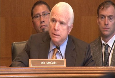 Sen. John McCain, R-Arizona, demands to know why no EPA employees or contractors had been fired in the wake of the 3 million gallon spill into the Animas River. Photo/Charles McConnell
