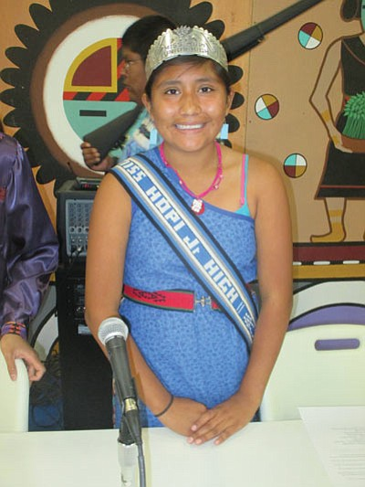 Miss Hopi Junior High Youiwmana Poooyouma. Photo/Stan Bindell