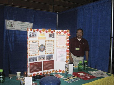 A fitness center representative mans a booth at last year's diabetes expo. Submitted photo