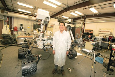 Aaron Yazzie stands in NASA's Jet Propulsion Lab (JPL) in Anaheim, California. Submitted photo