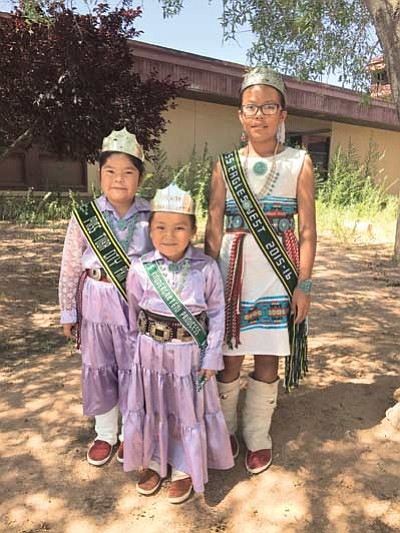 New 2015-16 Princess Royalty for Tuba City Unified School District are from left: Princess Maria Bilagody – third grade, Princess Alyssa Bennett – kindergarten and Princess Aleathia Nellie Williams – fifth grade. Photo/Rosanda Suetopka