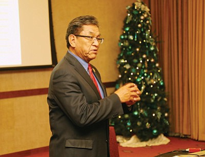 Navajo Nation President Russell Begaye speaks in support of the Indian Child Welfare Act Dec. 10. Submitted photo