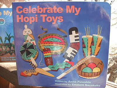 Two new books published by Salina Bookshelf in Flagstaff, Arizona feature detailed, colorful illustrations along with  Hopi tribal dictionary approved language. Rosanda Suetopka/NHO