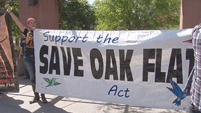 A deal to swap federal land for private land cleared the way for the proposed Resolution Copper mine project, but opponents in Congress hope to reverse the land swap and protect Oak Flat, a site considered sacred by the San Carlos Apache. Gilbert Cordova/Cronkite News