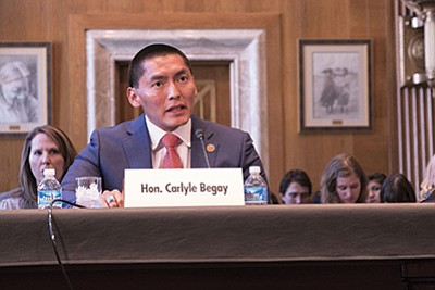 Arizona state Sen. Carlyle Begay, R-Ganado, said a state law letting parents use public money for private education drew 300 Native applications, but they could not use Bureau of Indian Education funds for the program. Danika Worthington/Cronkite News