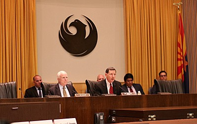 Sen. John McCain takes part in a April 22 hearing regarding the Gold King Mine Spill. Submitted photo