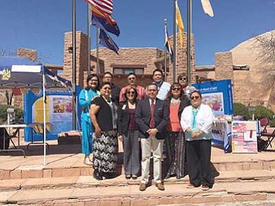 Navajo Head Start staff provide program information to tribal leaders and the public during the spring session of the Navajo Nation Council April 22. Photo/Sharon Singer