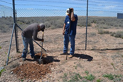 The United States Department of Agriculture (USDA) Rural Development officials joined Navajo Tribal Utility Authority representatives April 21 to announce $5,720,000 in loan and grant money to upgrade the water systems for Ganado, Lower Greasewood and Dilkon water systems. Submitted photo