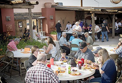 Winslow residents enjoy food from area restaurants at the Taste of Winslow event June 10.