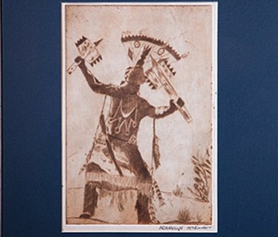 Untitled, 1972, etching on paper, Franklin Stewart. Ryan Williams/NHO